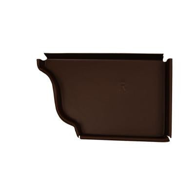5 in. Royal Brown Aluminum Right End Cap