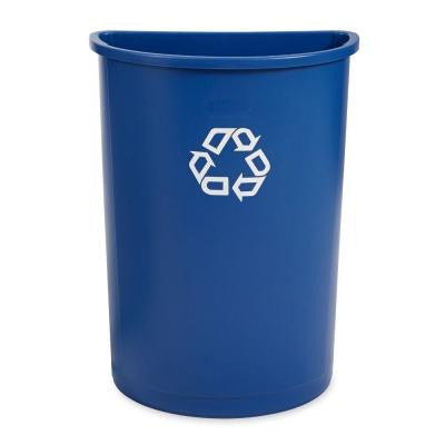 21 Gal. Blue Half Round Recycling Container