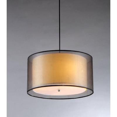 Fabiola 3-Light Black Brown Hanging Chandelier