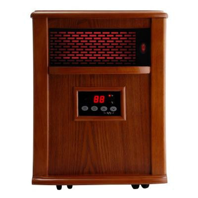 500 Watt Portable Infrared Electric Heater Solid wood construction - Tuscan