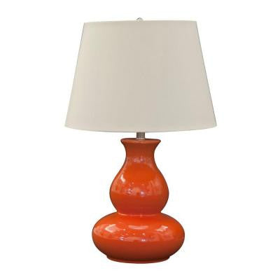 Sunset 27 in. Brushed Nickel Table Lamp