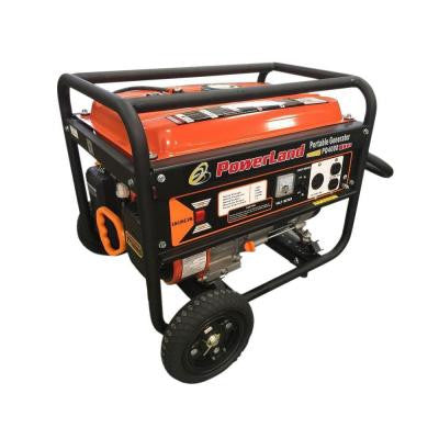 4,000 Watt Portable Gas Generator 7.5 HP with Wheel Kit and Handle for Home Camping and RV