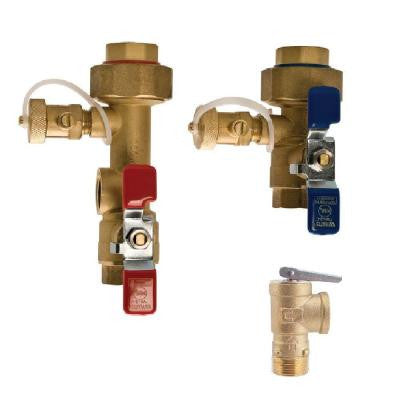 1 in. Lead Free Copper Tankless Water Heater Valve Installation Kit