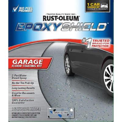 120 oz. Gray High-Gloss Low VOC One Car Garage Floor Kit (2-Pack)