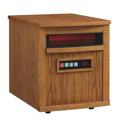 1500-Watt Electric Infrared Quartz Heater - Oak