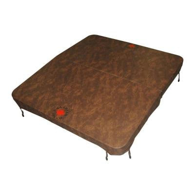 100 in. x 92 in. Rectangle Spa Cover in Brown (5 in. x 3 in. Taper)