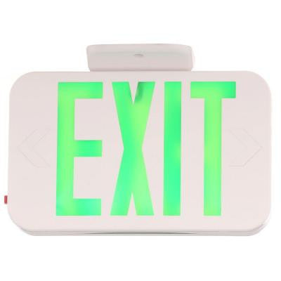 Thermoplastic LED Exit Sign with Green Letters