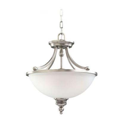 Laurel Leaf 2-Light Antique Brushed Nickel Semi-Flush Mount Light