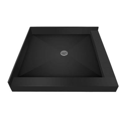 42 in. x 42 in. Double Threshold Shower Base with Center Drain