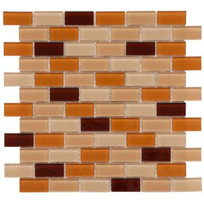 Spectrum Cafe 11-3/4 in. x 11-3/4 in. x 5 mm Glass Mosaic Wall Tile