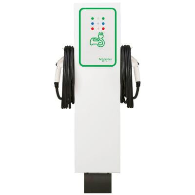 EVlink 30 Amp Level-2 Outdoor Dual Unit Pedestal Electric Vehicle Charging Station
