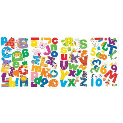 5 in. x 11.5 in. Lazoo Alphabet Peel and Stick Wall Decals