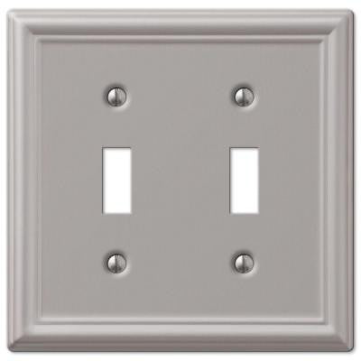 Chelsea 2 Toggle Wall Plate - Nickel