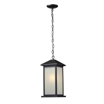 Lawrence 1-Light Outdoor Hanging Black Incandescent Pendant