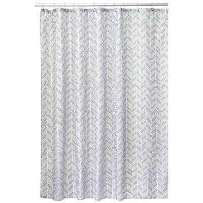 Nora 72 in. x 72 in. Shower Curtain in Taupe and Lavender
