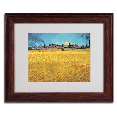11 in. x 14 in. Summer Evening 1888 Matted Brown Framed Wall Art