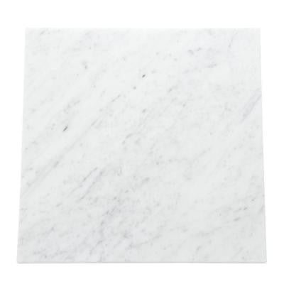 Natural Stone Collection Carrara White 12 in. x 12 in. Polished Marble Floor and Wall Tile (10 sq. ft. / case)