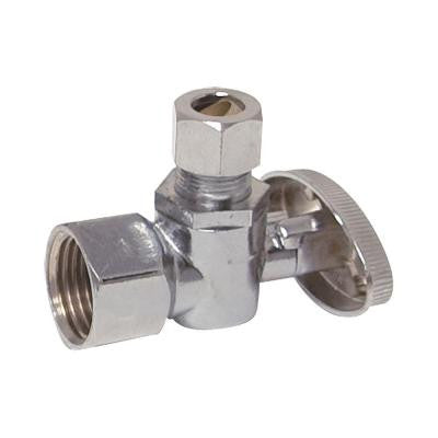 1/2 in. FIP x 7/16 in. or 1/2 in. Slip Joint Angle Stop Valve