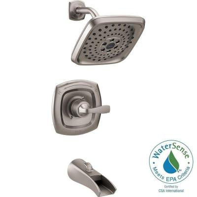 Tolva 1-Handle H2Okinetic Tub and Shower Faucet in Stainless