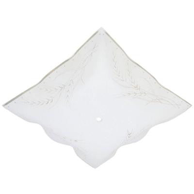 1-1/2 in. Square Clear Wheat Design on White Ruffled Edge Diffuser with 12 in. Width