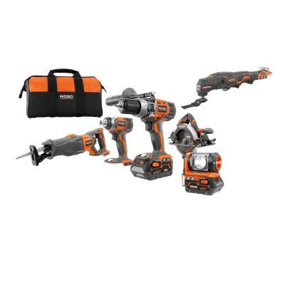 X4 18-Volt Hyper Lithium-Ion Cordless Combo Kit with 18-Volt JobMax Console (5-Piece)