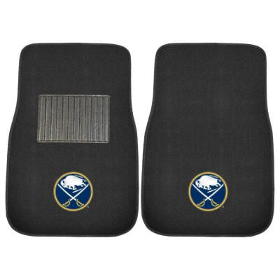 NHL Buffalo Sabres 2-Piece 17 in. x 25.5 in. Carpet Embroidered Car Mat