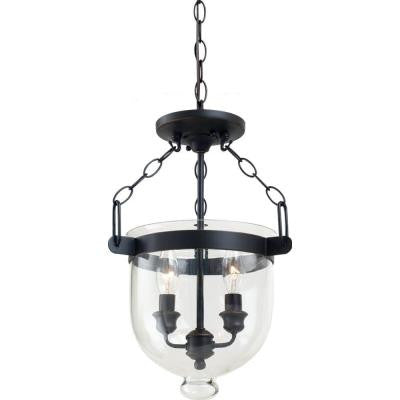 Westminster 2-Light Indoor Autumn Bronze Semi-Flush Mount Light Convertible