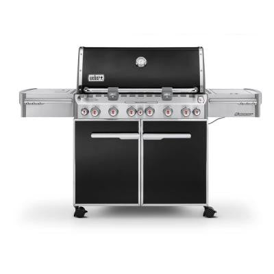 Summit E-670 6-Burner Propane Gas Grill in Black