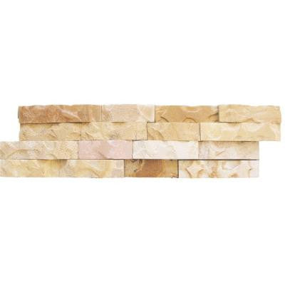 Fossil Rustic Ledger Panel 6 in. x 24 in. Natural Quartzite Wall Tile (10 cases / 40 sq. ft. / pallet)