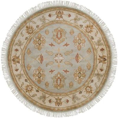 Hickman Pale Jade 8 ft. Round Area Rug