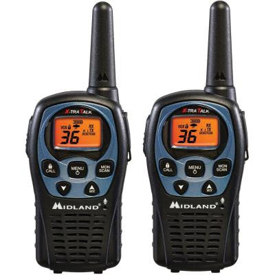 26-Mile 36 Channel 2-Way Radios - Black (2-Pack)