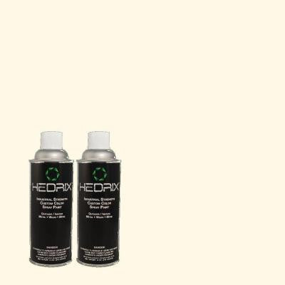 11 oz. Match of PWN-21 Fragrant Jasmine Flat Custom Spray Paint (2-Pack)