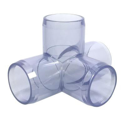 1-1/4 in. Furniture Grade PVC 4-Way Tee in Clear