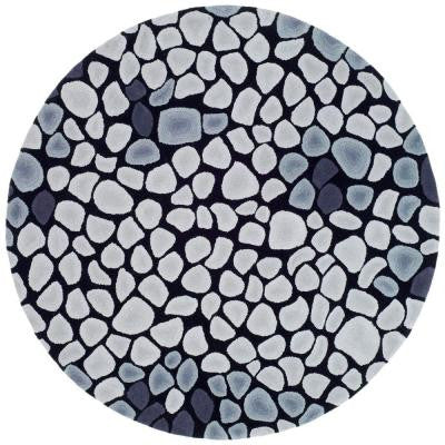 Soho Grey/Ivory 6 ft. x 6 ft. Round Area Rug