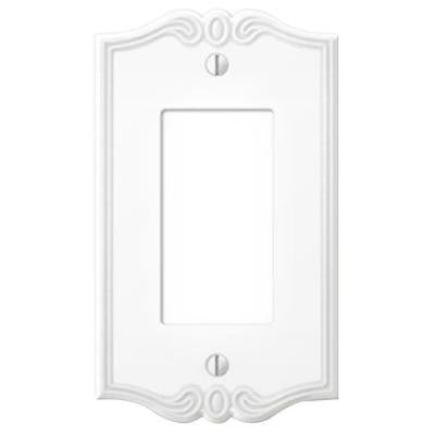 Charleston 1 Decora Wall Plate - White