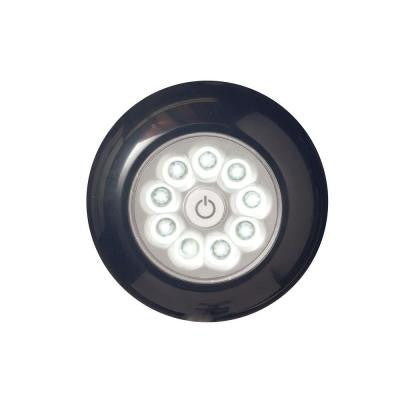 4 in. Black 9-LED Puck Anywhere-Light XB