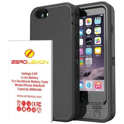 ZeroShock iPhone 6 4.7 in. 4,600mAh Rugged Removable Battery Case
