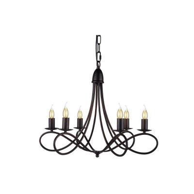 Lyndon 6-Light Dark Bronze Pendant Lamp