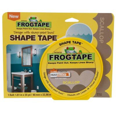 1.81 in. x 25 yds. Scallop Shape Painting Tape