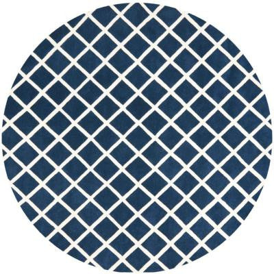 Chatham Dark Blue/Ivory 7 ft. Round Area Rug