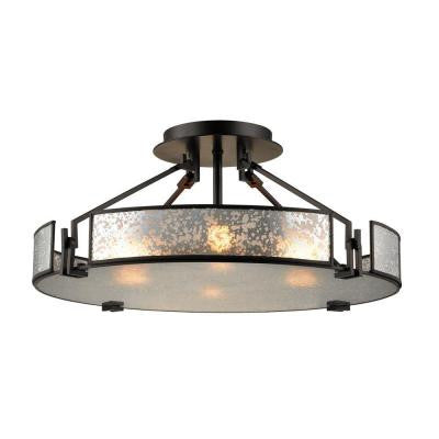 Lindhurst 4-Light Oil Rubbed Bronze Semi Flush Mount