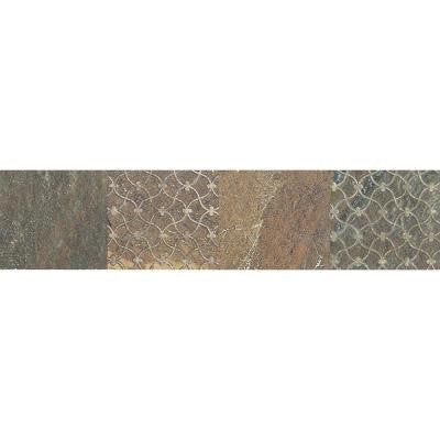 Ayers Rock Rustic Remnant 3 in. x 13 in. Glazed Porcelain Decorative Accent Floor and Wall Tile
