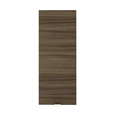 Textures Collection 12 in. W x 30 in. H x 5 in. D Surface Mount Medicine Cabinet in Driftwood