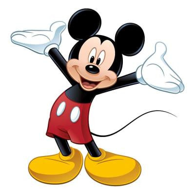 5 in. x 19 in. Mickey and Friends Mickey Mouse Peel and Stick Giant Wall Decal (9-Piece)