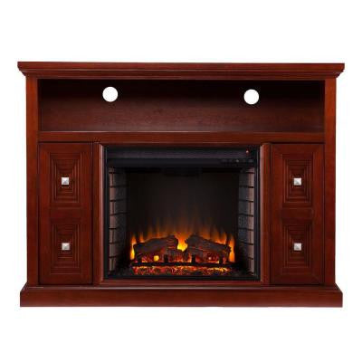 Adrian 47.75 in. Freestanding Media Electric Fireplace in Cherry