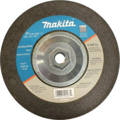 7 in. x 5/8 in. x 1/4 in. 24-Grit Hubbed Grinding Wheel (10-Pack)