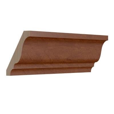 1.5 in. x 96 in. Crown Molding in Nutmeg