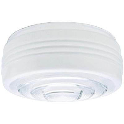 4-1/4 in. White and Clear Drum Shade with 10 in. Fitter and 11 in. Width
