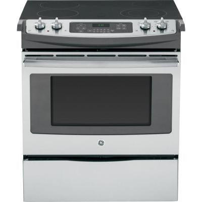 4.4 cu. ft. Slide-In Electric Range with Self-Cleaning Oven in Stainless Steel