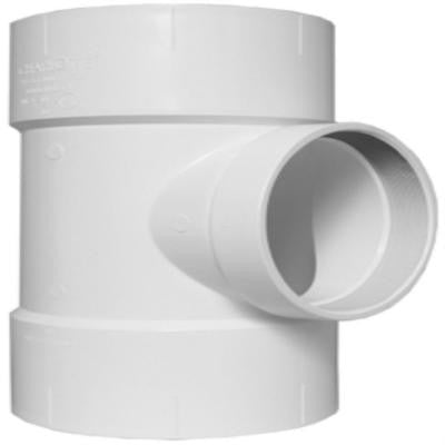 12 in. x 12 in. x 6 in. PVC DWV Flush Cleanout Tee